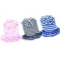 Dog Cat Puppy Clothes Pet Apparel Striped Princess Bowtie Dress Manufactures