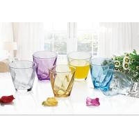 China 6PC Drinking Glass Cup Set Colored Gift Packing Stock 260ml Weight 195g on sale