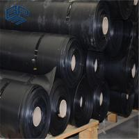 China impervious membrane  HDPE geomembrane waterproof black  sheet for pond liner on sale