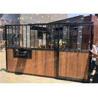 China Metal Horse Equipment Horse Stall Panels Equestrian House Stable Stall Doors on sale