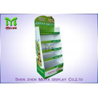 Customized Cardboard Book Display Stand , Promotion Cardboard Display Shelf For Cd Marketing Manufactures