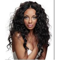 Brazilian Curly Swiss Curly Human Hair Wigs With Baby Hair Natural Black for sale