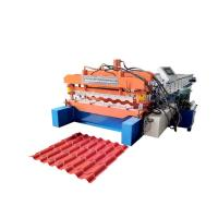 Bamboo Glazed Roof Tile Roll Forming Machine Metal Steel Step Tile Making Machine Manufactures