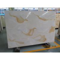 China White Quartz Solid Stone Countertops / Solid Surface Kitchen Countertops on sale