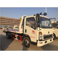 4x2 3 Ton Road Wrecker Truck With Lifting / Pulling / Hoisting ZZ1087G381CE183 Manufactures