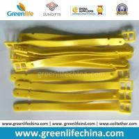 New Fashionable Solid Yellow Tape Shape PVC Luggage Tag Loop Manufactures