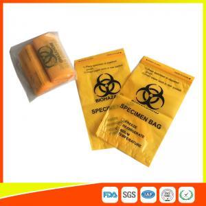 Laboratory Biohazard Specimen Transport Bags Reclosable 3/4 Layer Yellow Color Manufactures