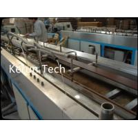 Conical Twin Screw WPC Profile Making Machine / PVC Profile Production Line Manufactures