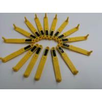 Long Strip Shape Livestock Ear Tags TPU Material Sheep Ear Tag Yellow Color Manufactures