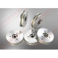 China White Aluminum Ceramic Wire Roller oil winding wire guide pulley fine polishing Ra 0.2 on sale