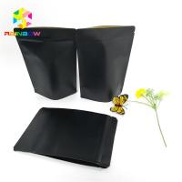Black Kraft Paper Printing Customized Paper Bags Food Grade Laminated Self Stand Pouch Manufactures