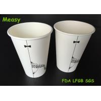 Popular 16oz disposable coffee cups , Hot Milktea Single Wall Paper Cups 500ml Capacity Manufactures