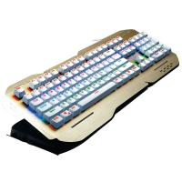 Rainbow Colorful Ergonomic Gaming Keyboard Multimedia Keys Alumium Alloy Cover Manufactures