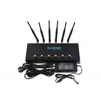 2G 3G 4G Cell Phone Signal Jammer 6 Channels With Adjustable Button Manufactures