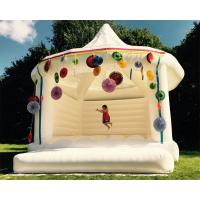 China Custom Made Carpa Hinchable Inflatable Party Tent White Bouncy Castle For Wedding on sale