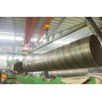 black round BG SSAW Steel Pipe Large Diameter with X56 X70 , St52 St42 St45 Grade Manufactures