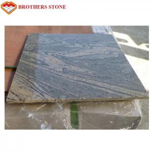 Black Veins China Juparana Grey Granite Garden Slabs Acid Resistance