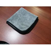 Gray grey color microfiber microfibre car cleaning detailing towels/cloth with black edge Manufactures