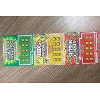 Customized Printing PVC/Paper Scratch Card For Lottery/Prize/Lucky Draw/Raffle Manufactures