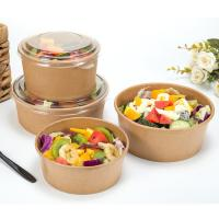 China Disposable paper bowls with lids kraft paper coffee cups big paper bowls on sale