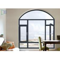A Rated Storm Impact Arched Aluminium Windows , Soundproof Aluminium Curved Windows Manufactures