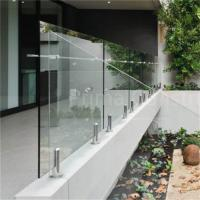 China Antirusting outdoor toughened glass railing with CE approved on sale