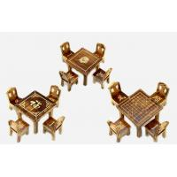 54413 mini wooden carved desk and chair model toy gift Manufactures