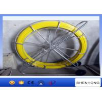 China Dia 10MM Yellow Fiberglass Duct Rod 200M Length For Cable Tracing on sale