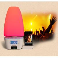 bedside iphone docking station with speakers and alarm clock delux mood light Manufactures