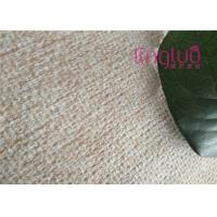 China Custom Plush Grid Polyester Linen Fabric For Sofa , Good Color Fastness on sale