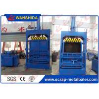 China Tie Baler OCC Cardboard Baler Vertical PET Bottles Baling Press Make High Density Bales on sale