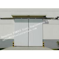 Customized Industrial Metal Sliding Door Steel Buildings Kits Single Direction For Warehouse Manufactures
