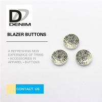 Decorative Gray Novelty ing Buttons , Two Hole Button 20L 24L 26L 28L Manufactures