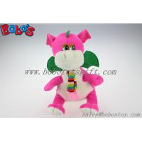 "China Manufacturer Pink Stuffed Dinosaur Animal With Scarf In 10"" Size Manufactures"