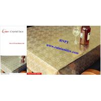 PVC Table Cloth --RNPT Crystal lace table cloth ---TC285-T003 gold table cloth