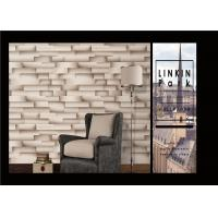 Modern Removable 3D Brick Effect Wall Covering Waterproof For Living Room Manufactures