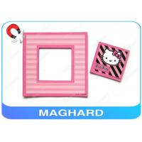 """4"""" x 4"""" Square Cute Fridge Magnet Photo Frame Pink , Hello Kitty Picture Stylish Manufactures"""