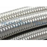 304 Metal Stainless Steel Braided Sleeving Full Coverage For EMI Cable Protection Manufactures