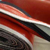 China Silicone fiberglass fire proof sleeve with velcro for hose cable heat insulation protection on sale
