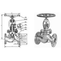 Stainless Steel Globe Valve Streamline Flange End With Bolted Bonnet Manufactures
