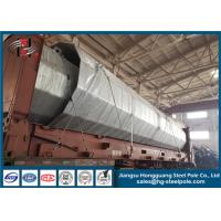China Q235 Q345 Steel Octagonal Conical Power Transmission Poles With Climbing Rung on sale