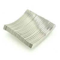 Industrial Arc Shaped Magnets Neodymium Rare Earth Magnets N52 Silver Coating Manufactures