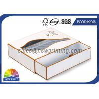 Luxury PVC / PET Window Paper Gift Box Rigid Drawer Cardboard Gift Boxes Manufactures