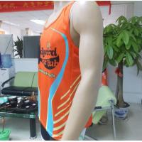 Orange Summer Sublimated Running Wear Mens Basketball Vest Manufactures