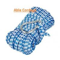 Hollow braided polypropylene rope for water ski towing line blue color Manufactures