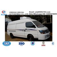 China famous high quality and low price JINBEI brand gasoline refrigerator minivan for sale, cold room van truck, Manufactures