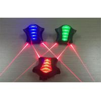 Waterproof Warning Bicycle Laser Tail Light With 2 Parallel Laser Red Beam Manufactures