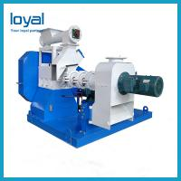 China Steam heating Twin screw extruder machine for fish feed, pet animals food on sale