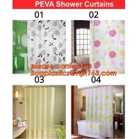 Home goods pure white shower curtains with plastic hook, Custom Printed Shower Curtain, bathroom curtain bagplastics bag Manufactures