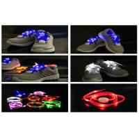 Super Shining New Generation LED Light Shoelaces Powered With CR2032 Coin Battery Manufactures